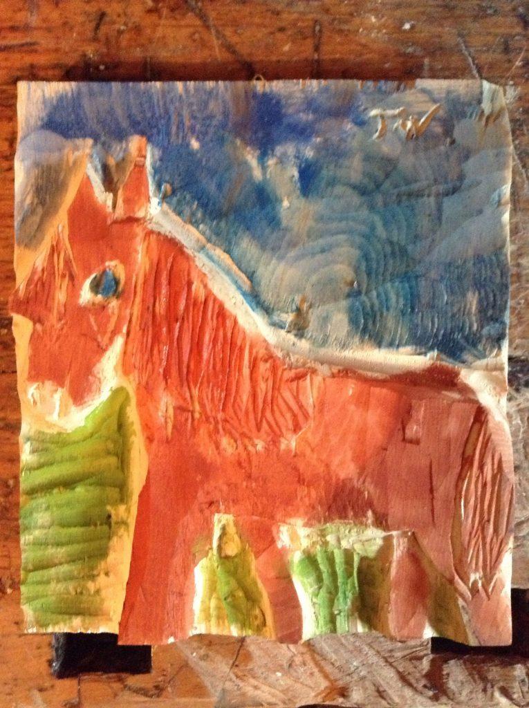 Holzrelief_Pferd